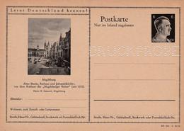 Carte Entier Postal Ganzsache Postkarte Druckprobe Magdeburg - Stamped Stationery