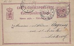 Luxembourg - Luxemburg  -  Carte Correspondance - Correspondenzkarte - 1875 - Préfix 10 - 2 Scans - Stamped Stationery
