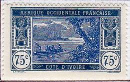 Cote D'ivoire 1934 Lagune Ebrie 75c  YT 105 Neuf* - Nuevos