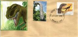 BRESIL. Dinosaures Théropodes Du Brésil,  Sur Lettre Brasilia - Prehistorics