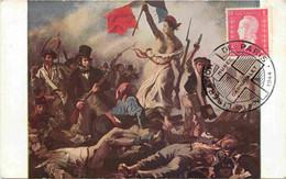 Marianne - Libération De Paris - Musée Carnavalet - 11 Nov 1944 - Delacroix - La Barricade - Carte Maximum Card CM - 1940-49