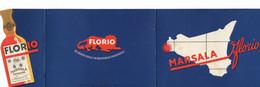 CARD CARTONCINO PUBBLICITARIO MARSALA FLORIO  DOPPIO STILE FUTURISTA 2 SCANNER 2 -0882-29699-700 - Pubblicitari