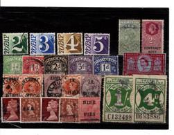 24 Timbres ,  Vignettes , Fiscaux  Et Colonies Anglais. Bon état. - Sin Clasificación