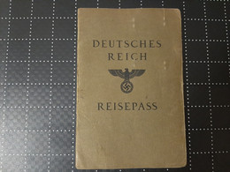1937 Germany Passport Passeport Reisepass Issued In Frankfurt - Travel To: Farnce Exposition Paris & Netherlands Bohmen - Documents Historiques