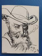 Wilhelm Buschs.  SELF-PORTRAIT - Old Card - Otros