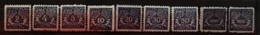 Pologne 1919 / Yvert Taxe N°22-30 / * - Postage Due