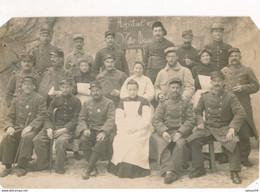 Carte-Photo (11 X 7 Cm) : Portrait Militaires - Hôpital Militaire N°119bis à TOURNON (Rhône) (BP) - Guerra, Militari
