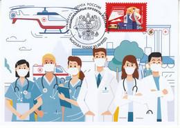 Russia 2020 2931 Mih 2708 Russia 10 2020 NO EXTRA FEESFight Against COVID-19 Coronavirus Ambulance - Ongebruikt