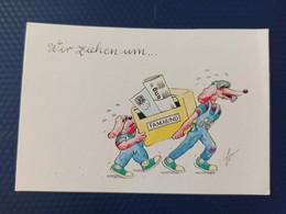 OLD German Postcard  -newspaper -  Teckel Dog - Dachshund - Dachshound - Teckel - Dackel - Bassotto - Cani