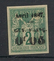 Guyane - 1886-88 - N°Yv. 3 - Sage 0,05 Sur 2c Vert - Neuf (*) / MNG - Ongebruikt