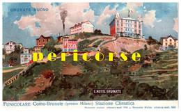 Funicolare Como Brunate   Stazione Climatica Grand Hotel Brunate - Como
