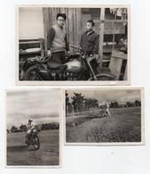 295, Moto Motocyclette, Japon 1960, 3 Photos Amateur, 1 Format 11,3 X 8 Cm Et 2 Format 8 X 5,7 Cm, Photos Avec Traces De - Automobili