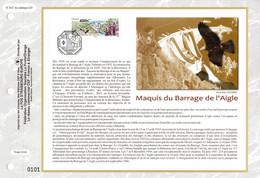 """"""" MAQUIS DU BARRAGE DE L'AIGLE """" Sur Feuillet CEF De 2016. N° YT 5078. Parfait état. FDC - WW2"""