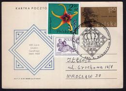Polska - 1969- Lettre - Entier Postale - Mahatma Gandhi 1869-1969 - Mahatma Gandhi