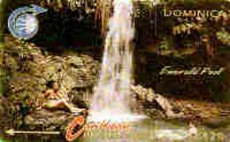 DOMINICA : 004BA EC$20 Emerald Pool  Grey Ctrl USED - Dominica