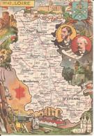 LOIRE (42) Carte Géographique N° 42 - Blondel La Rougerie - 1945  (2 Scans)  CPSM  GF - Unclassified
