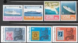 Cayman Islands  1978   Sc#392-5  Ships, #426-8 Rowland Hill Sets  MNH   2016 Scott Value $4.75 - Caimán (Islas)