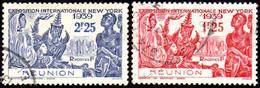 Détail De La Série Exposition Internationale De New York Obl. Réunion N° 216 Et  217 - 1939 Exposition Internationale De New-York
