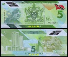 Trinidad And Tobago 5 Dollars, (2020), AA Prefix, Polymer, UNC - Trinidad & Tobago