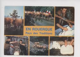 En Rouergue Pays De Traditions 20 Mai Sonnailles Troupeau Vache Pâturage Fabrication Fourme Cantal Fromage Buron - Non Classés
