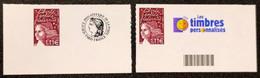 Timbres Personnalisées Autoadhésifs N° 3729C X2  Neuf ** Avec Bord De Feuille  TTB - Personalized Stamps