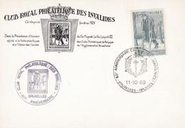 1510 Club Royal Philatélique Des Invalides - Covers & Documents
