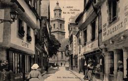 56 AURAY  Rue Du Lait  (rare En Format Paysage) - Auray