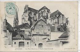 89, Yonne, AUXERRE, La Place Montbrun Et L'Eglise St-Germain, Scan Recto-Verso - Auxerre