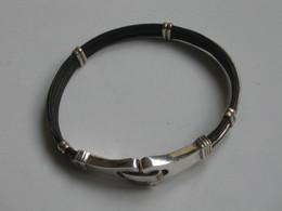 Très Beau Bracelet Argent + Poils D'éléphants    ***** EN ACHAT IMMEDIAT  **** - Bracciali