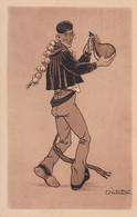 64 - Pays Basque -- 4 Cartes -- Jacques Le Tanneur -- Soir De Fête - Calvaire De Huarte - Cascarot - Idylle - Non Classificati