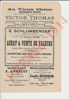 Pub 1914 Victor Thomas Besançon Schlumberger Chapellerie Annelot Camille Beckerich Pipes Brossard Gaston André 226CH31 - Sin Clasificación