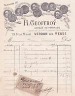 55-H.Geoffroy..Docteur En Pharmacie...Verdun...(Meuse)..1912 - Artigianato