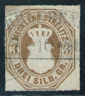 NEUBRANDENBURG 7/10 Auf 3 Sgr. Ockerbraun - Strelitz Nr. 6 - Geprüft BPP - Mecklenbourg-Strelitz