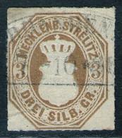 NEUBRANDENBURG 7/10 Auf 3 Sgr. Ockerbraun - Strelitz Nr. 6 - Geprüft BPP - Mecklenburg-Strelitz