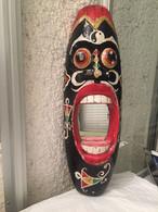 Miroir Africain En Bois - 62 Cm De Haut - African Art