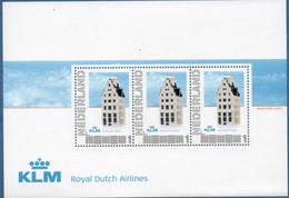 Netherlands 201- KLM Royal Dutch Airlines Block MNH 2012.1106 Delft Blue Gift Amsterdam Canal House - Vliegtuigen