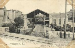 TOULON  La Gare Interieur TRAIN   Wagons Recto Verso - Toulon