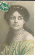 Cpa Fantaisie * Portrait De Femme , Circulée 1908 - Frauen