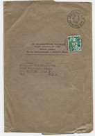 GANDON 6FR VERT SEUL GRANDE BANDE LA ROCHELLE RP 15.2.1952 POUR USA AU TARIF - 1945-54 Marianne Of Gandon