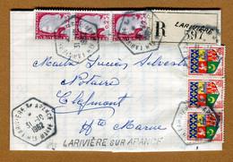 LARIVIERE-SUR-APANCE  (52) : LETTRE RECOMMANDEE  (1962) - 1961-....