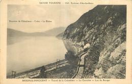 73 - BRISON SAINT INNOCENT - TUNNEL DE LA COLOMBIERE - LA CORNICHE - LAC DU BOURGET - Andere Gemeenten
