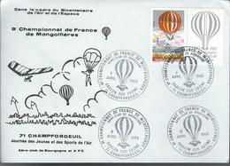 71  Chalon Sur Saône  -Championnat De France De Mongolfiéres  -8-9-et 10 Avril 1983 - Filatelistische Tentoonstellingen