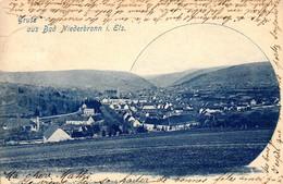 Thematiques 67 Bas Rhin Niederbronn Gruss Aus Bad Niederbronn I Els Timbre Cachet 25 02 1899 - Other Municipalities