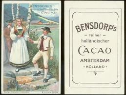 19211 Sammelbild 11 X 7 Cm Litho Bensdorp Cacao Um 1900 Hochzeit Tracht Schweden - Marriages