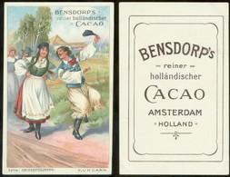 19212 Sammelbild 11 X 7 Cm Litho Bensdorp Cacao Um 1900 Hochzeit Tracht Ungarn - Marriages