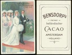 19213 Sammelbild 11 X 7 Cm Litho Bensdorp Cacao Um 1900 Hochzeit Tracht Amerika - Marriages