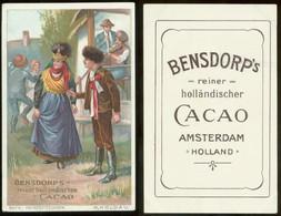 19214 Sammelbild 11 X 7 Cm Litho Bensdorp Cacao Um 1900 Hochzeit Tracht Moldau - Marriages