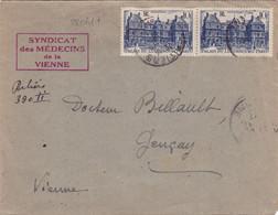 22061# Luxembourg ENVELOPPE RECOMMANDE PROVISOIRE DE FORTUNE Obl POITIERS VIENNE 1947 GENCAY - 1921-1960: Periodo Moderno
