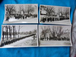 COL - 4 PHOTOS ORIGINALES FORMAT CPA D'UN ENTERREMENT PRES DE CHARTRES - CORBILLARD TIRE PAR UN CHEVAL - Chartres