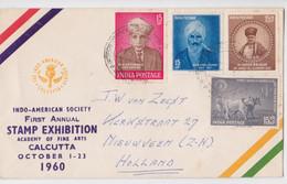 Enveloppe Philatélique Timbre Inde First Stamp Exhibition Calcutta October 1960 Philatelic Air Mail Cover To Nieuwveen - Cartas